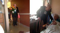 El nuevo fenómeno viral de Internet nació de un tuit publicado por una joven que capturó el momento en que su abuelo en elegante esmoquin y con un ramo de flores llega a una cita con el amor de su vida. https://www.aciprensa.com/noticias/el-amor-real-es-noticia-abuelito-en-esmoquin-y-flores-rompe-internet-22618/