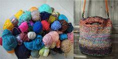Háčkovaná taška zo zvyškov s odnímateľným koženým remeňom. Crochet multicolor bag, upcycling leftover yarn, leather handle Straw Bag, Dreadlocks, Hair Styles, Bags, Beauty, Fashion, Hair Plait Styles, Handbags, Moda