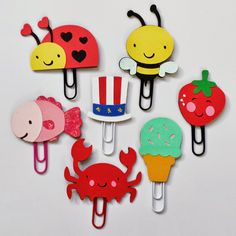 Bits and Pieces.: Ladybugs, Summer Fun, Flowers and Planner Goodies Paperclip Crafts, Paperclip Bookmarks, Diy For Kids, Crafts For Kids, Diy Paper, Paper Crafts, Paper Clip Art, Book Markers, Candy Cards