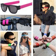 Retro Women Men Glasses Mirror Lens Polarized Sunglasses Eyewear Shades Bracelet #Unbranded #Sport