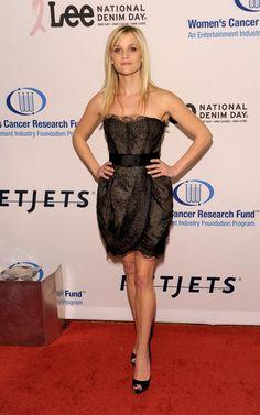 christian louboutins for men - Reese Witherspoon wearing Giambattista Valli dress, Christian ...
