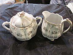Germany Porcelain Sugar And Creamer Set