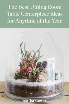 These are great DIY centerpiece ideas that work across seasons. We rounded up an array of our very best ideas that'll look as good on your table at Thanksgiving as it will on Mother's Day. #marthastewart #diydecor #diyprojects #diyideas #hobby