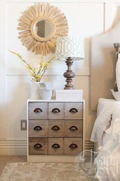 Turn your dresser into a library catalog look-alike that you'll want to stare at all day. | 17 Ways To Trick People Into Thinking Your Furniture Isn't From Ikea