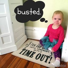 DIY Time-Out Rug... customized and portable! {using vinyl as a stencil} SAWDUST AND EMBRYOS