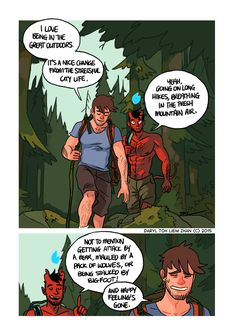 The Great Outdoors - Part 01 Enjoy the first of this five part mini-story of Toby and Guy's hiking trip. next