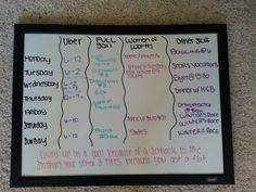 Organizing My Office: Whiteboard Schedule