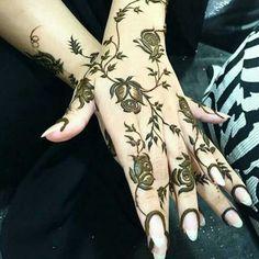 🖤💗of course💗luv it🖤owls rule Arabic Bridal Mehndi Designs, Arabian Mehndi Design, Mehndi Design Pictures, Mehandi Designs, Henna Mehndi, Hand Henna, Foot Henna, Arabic Mehndi, Beautiful Henna Designs
