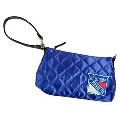 New York Rangers NHL Quilted Wristlet (Royal)