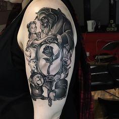 "2,502 Likes, 40 Comments - TattooSnob (@tattoosnob) on Instagram: ""Beauty & the Beast tattoo by @thebakery at Skin Kitchen in Kent, U.K. #thebakery #jordanbaker…"""
