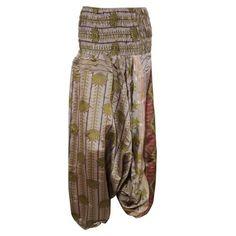 50d9baf4389a ... Vintage Trousers. from Walmart.com · Mogul Women s Silk Jumpsuit Dress  Printed Summer Comfy Harem Pant