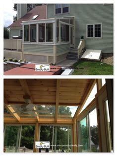 Brady-Built Sunrooms are quality, factory-built sunroom additions made in Auburn, MA factory. We custom design and construct sunrooms, solariums, conservatories and orangeries. Sunroom Addition, Bird Aviary, Sliding Windows, Sunrooms, Conservatory, Garden Styles, Pine, Porch, Custom Design
