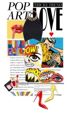 pop look by gizaboudib on Polyvore featuring polyvore, moda, style, Rebson, Christian Louboutin, Sarah's Bag, Moschino, NARS Cosmetics, Yves Saint Laurent, Jonathan Adler and popart Pop Art Fashion, Fashion Outfits, Trending Art, Best Director, Night Outfits, Polyvore Outfits, Moschino, Classic, Jonathan Adler
