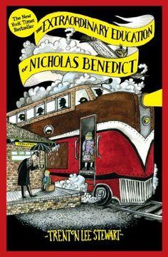 The Extraordinary Education of Nicholas Benedict (Mysterious Benedict Society) by Trenton Lee Stewart, http://www.amazon.com.au/dp/B00IIXP55Q/ref=cm_sw_r_pi_dp_u8lQub09CGMJ5