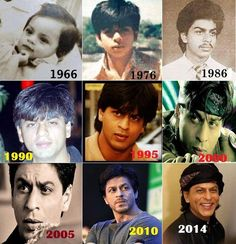 SRK through the years. Bollywood Funny, Bollywood Photos, Vintage Bollywood, Bollywood News, Bollywood Actress, Shahrukh Khan Family, Salman Khan, Shah Rukh Khan Movies, Bollywood Stars