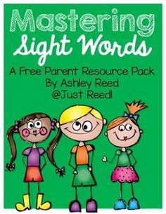 This is a great parent resource packet to either print and send home or to email to your students' parents.  It's filled with fun hands-on ways for students to practice sight words at home!  It includes a few reproducibles for parents to use as well as Sight Word lists for Pre-primer through third grade sight words!