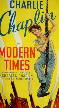 Modern Times (1936) Director: Charlie Chaplin Stars: Charlie Chaplin Paulette Goddard Comedy Drama B&W 87 min Silent ~ The Tramp struggles to live in modern industrial society with the help of a young homeless woman.