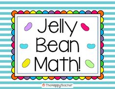 Freebie!  Jelly Bean Math!  Includes printable and part-part-whole mat.