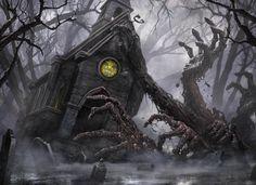 Fantasia e terror nas sombrias ilustrações para o game Magic: the Gathering de Vincent Proce