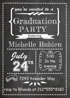Graduation Party Invitations ~ High school or college Graduation Party Invitations spring 2015