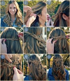 Braided half up half down hair tutorial