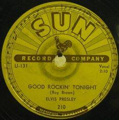 "Sun Records label, ""Good Rockin' Tonight"" by Elvis Presley, 1954"