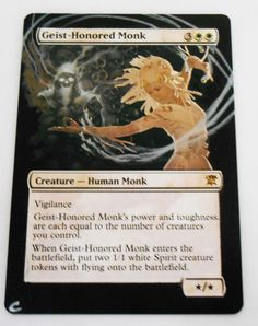 MTG Altered Painted Geist Honored Monk Innistrad #WizardsoftheCoast