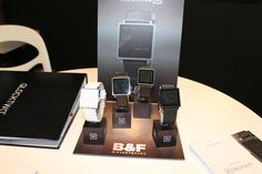 #Qlocktwo digital watches only at #BBT2014 BigBoysToys_UAE