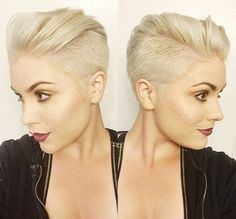 http://natural-hairs.com/57-most-attractive-short-hairstyles-that-drive-men-crazy-loco Short Layers with Gel Multidirectional locks are fun and carefree – perfect for summer weather. Have your hair cut with very short layers & then use a light gel. Undercut hairstyles for women with long, medium & short tops, styles for growing out curls, hidden nape side cuts & shaved bobs with funky designs. Braided & bangs with haircut tutorials. Cute hair with sexy hair colors, wavy haircuts.