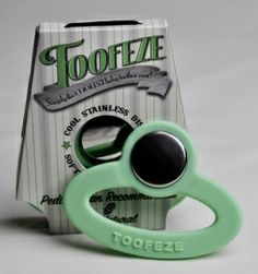 TOOFEZE is the best teether out there! Stanless steel disk cools instantly and little hands don't have to hold the cold part!!! If your out at dinner dip it in your cold water and BAM! you have a COLD teether for your little one!