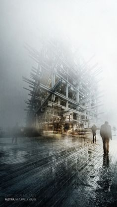 Visuals by Alexander Daxböck, via Behance Architecture Graphics, Architecture Student, Architecture Drawings, Architecture Portfolio, Architecture Design, Chinese Architecture, Expo Milano 2015, Expo 2015, Cgi