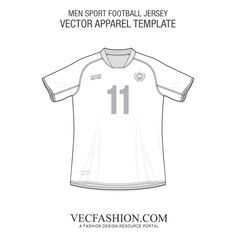 football jersey template set t shirts fashion design