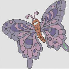 Butterfly hama perler pattern by Pia Petrea