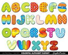 alphabet clipart color alphabet digital alphabet letters clipart digital letters clip art alphabet clip art letters clipart party letters