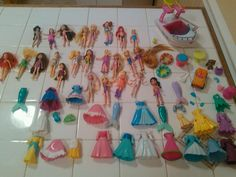 Huge Lot of Disney Princess and Other Polly Pockets Dolls Clothes Accs Etc | eBay