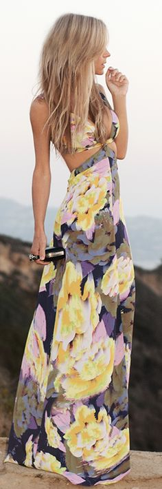Maxi Floral Formal Dress- get in my closet!