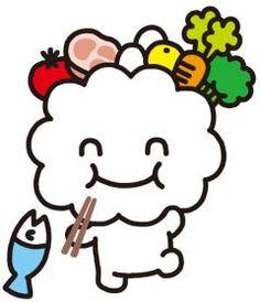 モグッピーのイラスト3モグッピー松山市食育推進キャラクター  http://www.city.matsuyama.ehime.jp/kurashi/iryo/eiyo/shokuiku_character.html