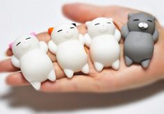 "FinerMe 4 Pcs Squishy Cats With Box Packages Mini Kawaii Cat Soft Squishies Cute Animal Hand Toy Squeeze Stress Pressure Vent Kids Toy Decompression Toy Christmas Birthday Gift It's a great fidget toy and decompression toys! Please choose the product from the store"" FinerMe""!! SENSE OF TOUCH - Good kind of soft tactual feel, just like you are touch a real cat. Squishy cat can make you relax and feel happy when you squeeze it. MATERIAL - Made of elastic environmentally silicon"