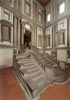 078 High Renaissance Architecture Michelangelo Entrance Vestibule And Staircase To The Biblioteca Lauian