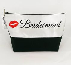 NEW! Bridesmaid Make Up Bag  exclusive design just listed! http://ift.tt/1LMhqo9  #cosmeticpouch #toiletrybag #weddingday #bride #etsy #etsyshop #fireboltcreations #traveler #vacation #travel #etsyseller #bridesmaids #bridal #wedding #bridetobe #bridalparty #bridalshower #bridalmakeup #gift #giftideas #gifts #handmade #bridesmaid #bachelorette #redlipstick #weddingdress #wednesday #shopping #handcrafted