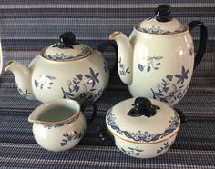 Vtg RORSTRAND OSTINDIA Teapot Coffee Pot by CeramicAntiques
