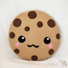 Kawaii cookie plush toy cushion cute chocolate chip cookie m&m cookie cartoon face cute pillow felt. no pattern P. i didn't find this i pinned it and it reminds me of cookie swirl c Food Pillows, Cute Pillows, Diy Pillows, Decorative Pillows, Throw Pillows, Bed Cushions, Sewing Pillows, Bolster Pillow, Cushion Pillow