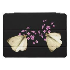 Butterfly on Pink Flowers 10.5 iPad Pro Case - floral style flower flowers stylish diy personalize