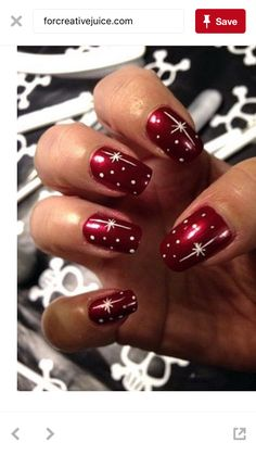 Shooting star nails