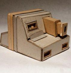 Retro camera made from cardboard by Kiel Johnson. #ModernArt #Sculptures