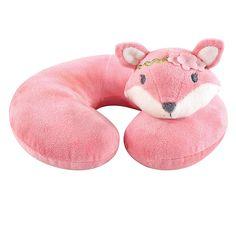 Hudson Baby Miss Fox Baby Head/neck Support Pillow In Pink – Neck Pillow Neck Support Pillow, Support Pillows, Neck Pillow, Minky Baby Blanket, Baby Pillows, Plush Pillow, Miss Fox, Fox Baby, Baby Baby