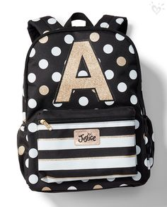 Roll call, and not one letter skipped. Our shimmery initial backpacks are created for every girl, from Ana to Zoe!