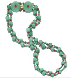 Jadeite and Ruby Necklace/Belt, Cartier, 1930
