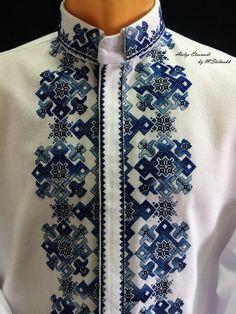 Cross Stitch Art, Cross Stitch Embroidery, Bohemian Costume, Mens Sewing Patterns, Diy Clothes And Shoes, Boys Kurta, Palestinian Embroidery, Stitch Shirt, Stylish Shirts