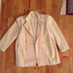 Bert Newman Cream Wool Coat
